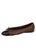 Womens Brown/Black Best Quilted Leather Ballet Flat