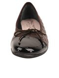 Womens Brown/Black Cozy Quilted Leather Ballet Flat 4