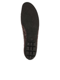 Womens Brown/Black Cozy Quilted Leather Ballet Flat 7