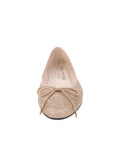Womens Champagne Bingo Leather Ballet Flat 4