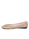 Womens Champagne Bingo Leather Ballet Flat 6