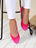 Womens Fuchsia Bravo Lug Sole Ballet 4 Alternate View
