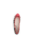 Womens Giraffe/Red Love Animal Print Ballet 4