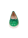 Womens Green Bravo Lug Sole Ballet 5