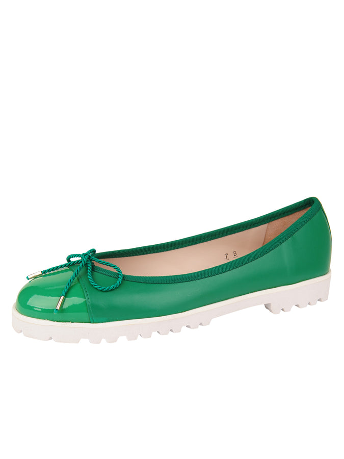 Womens Green Bravo Lug Sole Ballet