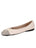 Womens Marion/Marfil Best Quilted Leather Ballet Flat