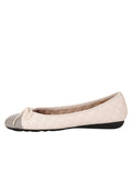 Womens Marion/Marfil Best Quilted Leather Ballet Flat 4