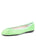 Womens Mint Bingo Vipa Leather Ballet Flat