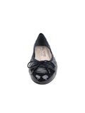 Womens Navy Pat/Navy Leather Best Quilted Leather Ballet Flat 4