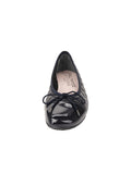 Womens Navy Cozy Quilted Leather Ballet Flat 6