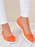 Womens Orange Bravo Lug Sole Ballet 4