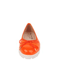 Womens Orange Bravo Lug Sole Ballet 5