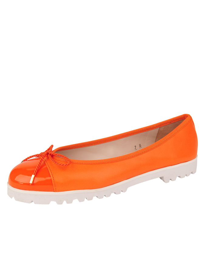 Womens Orange Bravo Lug Sole Ballet