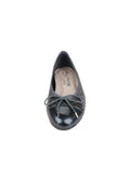 Womens Pewter Brush Quilted Leather Ballet Flat 4