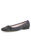 Womens Pewter Go Square Toe Ballet