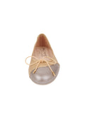 Womens Platinum/Ceramic Brave Leather Ballet Flat 4