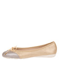 Womens Platinum/Ceramic Brave Leather Ballet Flat 6