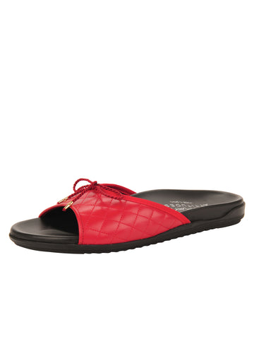 Womens Red Win Quilted Sandal