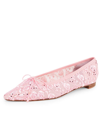 Womens Rose/Beige Mist Pointed Toe Ballet Flat
