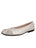 Womens Silver Cozy Quilted Leather Ballet Flat