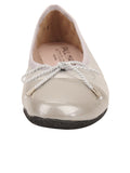 Womens Silver Cozy Quilted Leather Ballet Flat 4