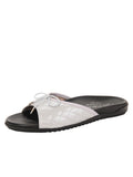Womens Silver Win Quilted Sandal
