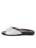 Womens Silver Win Quilted Sandal 6