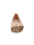 Womens Taupe/Salinas Crave Leather Ballet Flat 4
