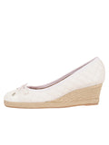 Womens White Just Quilted Wedge Espadrille 6