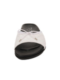 Womens White Win Quilted Sandal 4