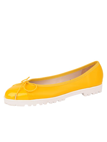 Womens Yellow Bravo Lug Sole Ballet