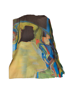 Ecstasy Large Silk Art Scarf