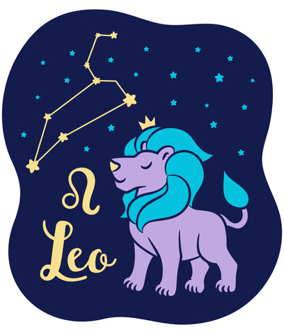 Celebrate your Leo Zodiac personality with our prints featuring your sign, constellation, and your identifying Leo Lion, fire sign mascot. Printed on our classic soft organic  cotton stretch signature knit and cut.  Our prints get your mystical knowledge of your child's individual personality out front and center in our Colored Horoscope, Zodiac Astrology screen printed on our Light Blue Tank Top for your Kids.