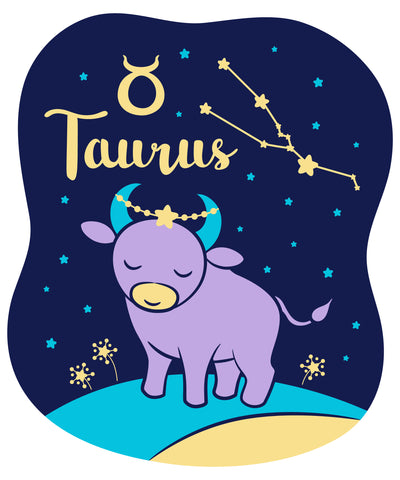 Celebrate your Taurus Zodiac personality with our kids fashion prints featuring your sign, constellation, and your identifying Taurus Baby Bull Earth  Sign mascot. Printed on our classic soft organic  cotton stretch signature knit and cut.  Our prints get your mystical knowledge of your child's individual personality out front and center in our Colored Horoscope, Zodiac Astrology screen printed on our Light Grey Tank Top