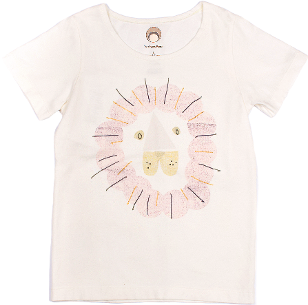 Baby Blush Lion Organic Cotton Graphic Print Tee