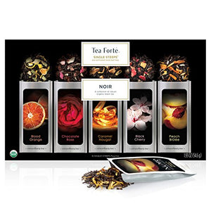 Organic Loose Leaf Tea Sampler 15 Single Serve Pouches - Bold Black Tea Varieties - Lovely Seeds
