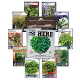 Herb Seed Collection, 10 Variety - 100% NON GMO Heirloom - Lovely Seeds