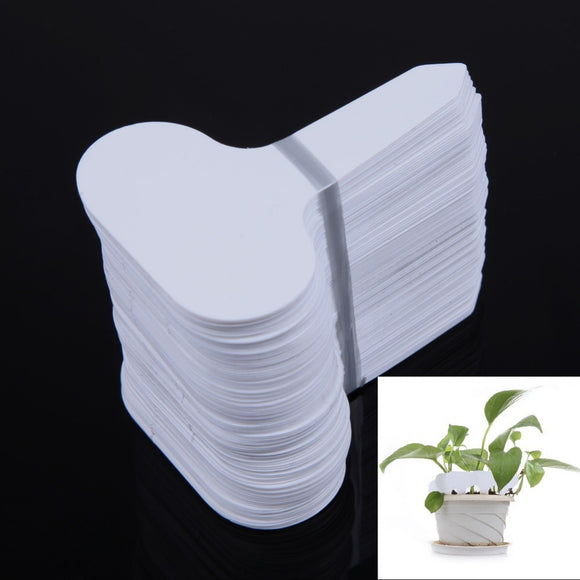100Pcs Plastic T-type Garden Tags Ornaments Plant Flower Label - Lovely Seeds