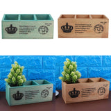3 Grids Wooden Flower Pot Succulent Planter - Lovely Seeds