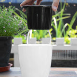 Self Watering Flower Plants Pot For Garden Indoor Home Decoration - Lovely Seeds