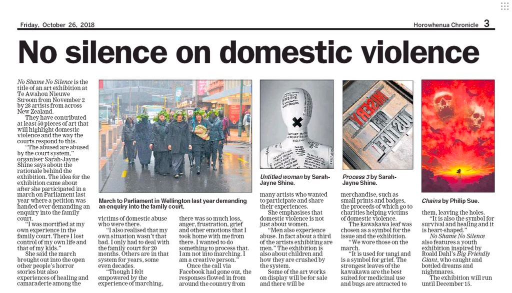No Silence on Domestic Violence - Horowhenua Chronicle