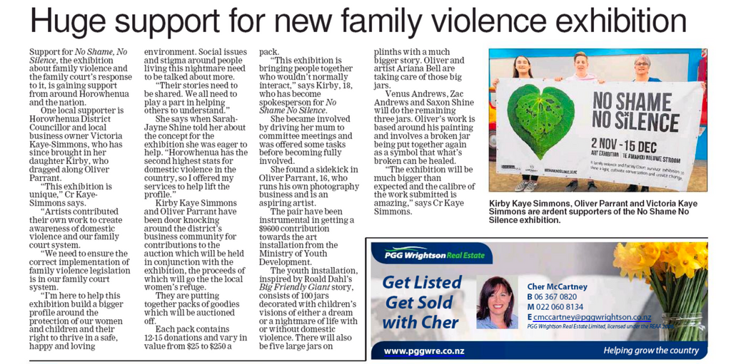 Huge Support for New Family Violence Exhibition - Horowhenua Chronicle