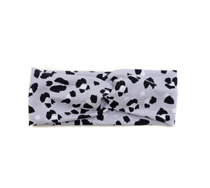 Turbante cruzado ANIMAL PRINT GRIS