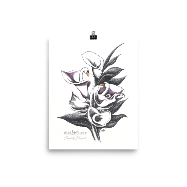 Swanlily Bouquet Art Print