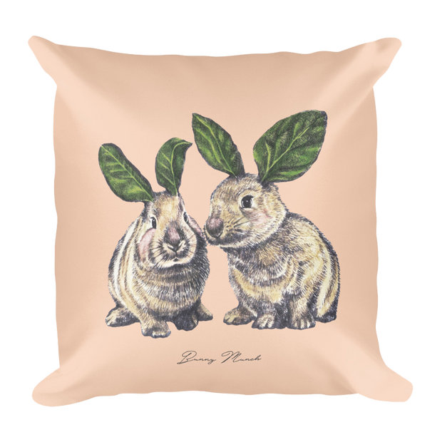 Bunny Munch Decor Pillow (Two-Sided)