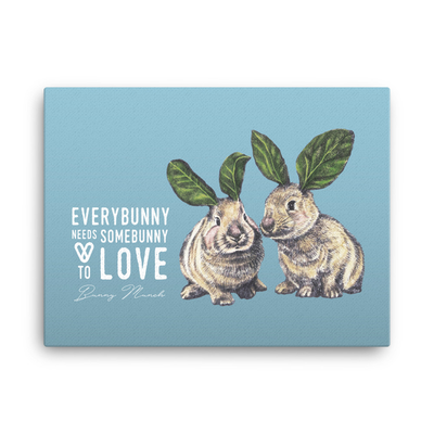 Bunny Munch Canvas Print