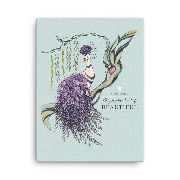 Wisteria Bird Canvas Print