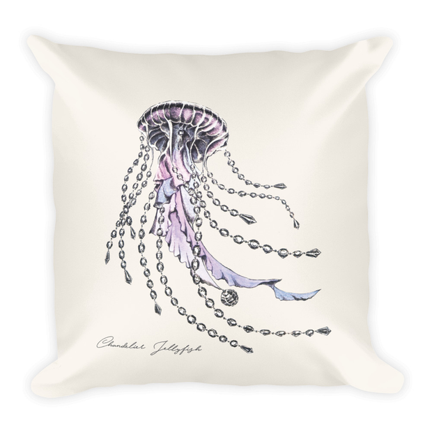 Chandelier Jellyfish Decor Pillow (Two-Sided)