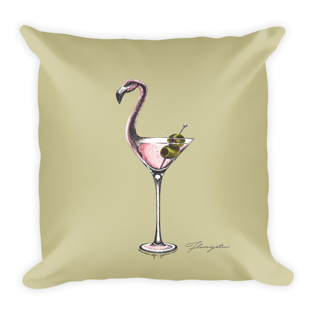 Flamingotini Decor Pillow (Two-Sided)