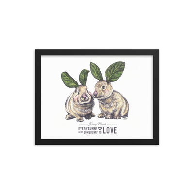 Bunny Munch Framed Art Print